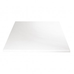 Bolero Square Table Top White 600mm