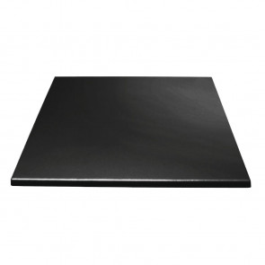 Bolero Square Table Top Black 700mm