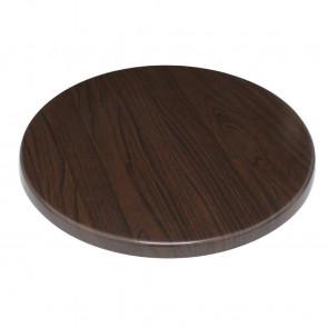 Bolero Round Table Top Dark Brown 600mm