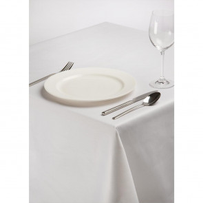 Rectangular Polycotton Tablecloth White 70 x 108in