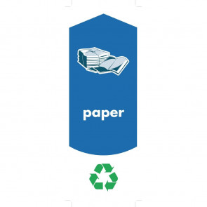 Rubbermaid Paper Recycling Stickers