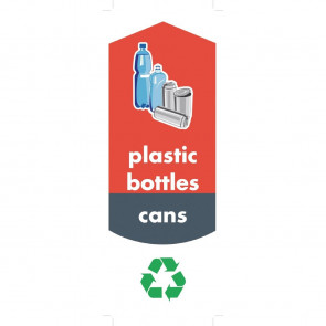 Rubbermaid Bottle and Can Recycling Stickers