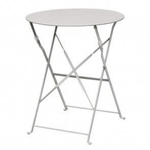 Bolero Grey Pavement Style Steel Table 595mm