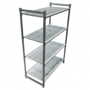 Cambro Camshelving Basics Vented 4 Shelf Unit 1220mm