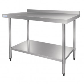 Vogue Stainless Steel Table with Upstand 1200mm