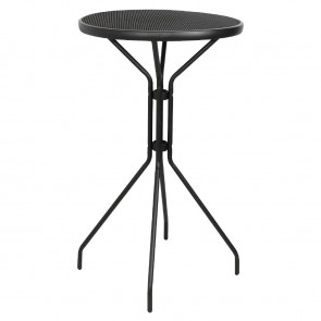 Bolero Black Mesh Poseur Height Table 600mm