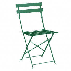 Bolero Pavement Style Steel Chairs Garden Green (Pack of 2)