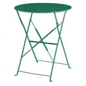 Bolero Garden Green Pavement Style Steel Table 595mm