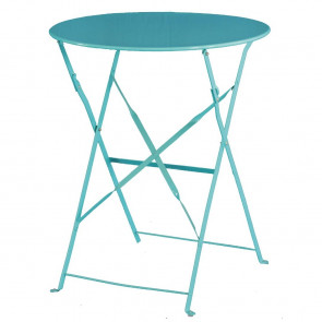 Bolero Seaside Blue Pavement Style Steel Table 595mm