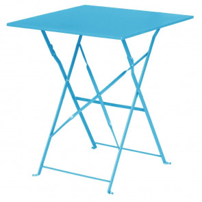 Bolero Seaside Blue Pavement Style Steel Table Square 600mm