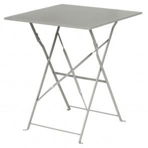 Bolero Grey Square Pavement Style Steel Table
