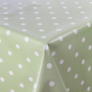 PVC Green Polka Dot Table Cloth 55in