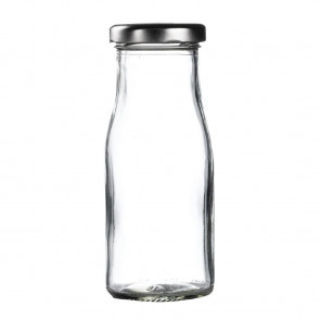 Silver Cap for Mini Milk Bottles