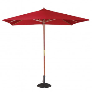 Bolero Square Parasol 2.5m Diameter Red