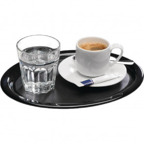 APS Melamine Serving Tray Black 11in
