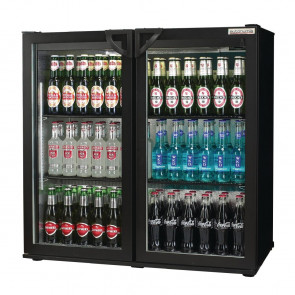 Autonumis Popular Double Hinged Door 3Ft Back Bar Cooler Black A201511