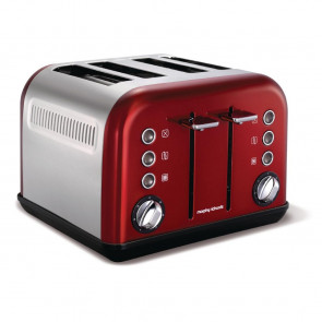 Morphy Richards Toaster New Accents 4 Slice Red