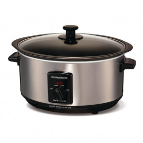 Morphy Richards Sear and Stew Slow Cooker Brushed Steel