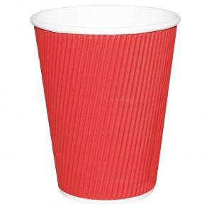 Fiesta Takeaway Coffee Cups Ripple Wall Red 225ml x25