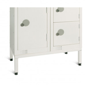 Elite White Locker Stand for Two 300mm Lockers