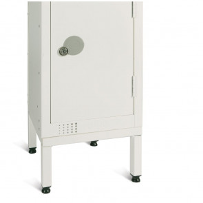 Elite White Locker Stand for One 450mm Locker