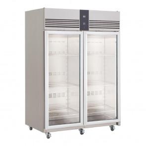 Foster EcoPro G2 2 Glass Door 1350Ltr Cabinet Fridge EP1440G 10/213