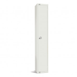Elite Single Door Camlock Locker White
