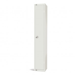 Elite Single Door Padlock Locker White