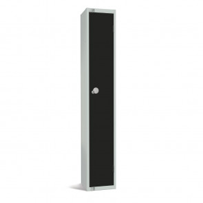 Elite Single Door Padlock Locker Black