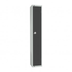 Elite Single Door Padlock Locker Graphite Grey