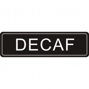 Airpot Decaf label