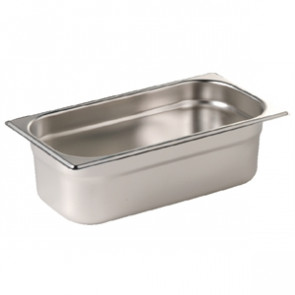 Vogue Stainless Steel1/4 Gastronorm Pan 100mm