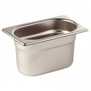 Vogue Stainless Steel 1/9 Gastronorm Pan 100mm