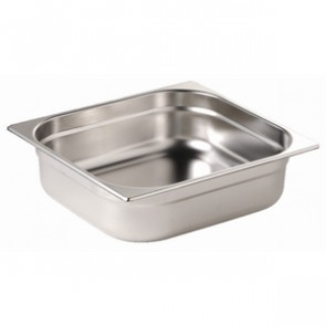 Vogue Stainless Steel 1/2 Gastronorm Pan 20mm