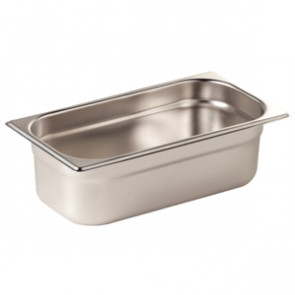 Vogue Stainless Steel 1/3 Gastronorm Pan 65mm