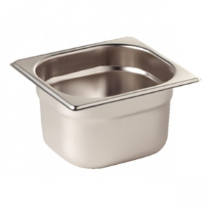 Vogue Stainless Steel 1/6 Gastronorm Pan 65mm