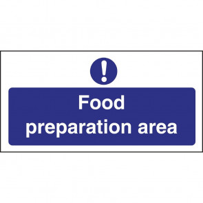 Vogue Food Preparation Area Sign