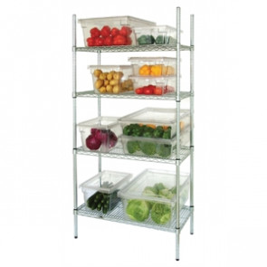 4 Tier Wire Shelving Kit 915x 457mm