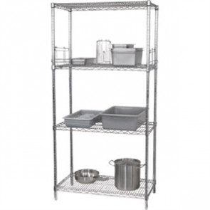 4 Tier Wire Shelving Kit 1830(H) x 1220(W) x 460(D)mm