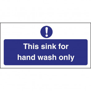 Vogue Hand Wash Only Sign