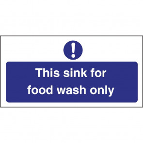 Vogue Food Wash Only Sign
