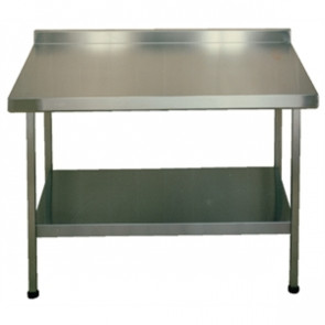 Stainless Steel Wall Table With Upstand F20602Z 900x 1500x 600mm