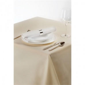 Palmar Polyester Ivory Tablecloth