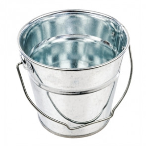 Small Round Galvanised Steel Bucket