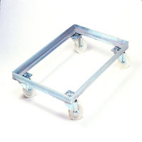 Rubber 2 Fixed 2 Swivel Trolley to suit 762x457 size trays