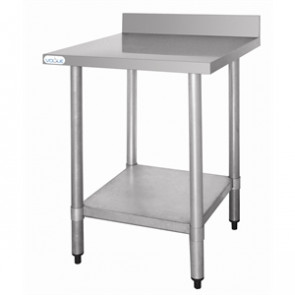 Vogue Stainless Steel Prep Table With Upstand 600mm