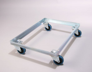 Rubber All Swivel Trolley to suit 762x457 size trays