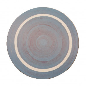 Round Casual Blue Dining Mat