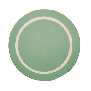 Round Casual Green Dining Mat