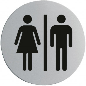 Stainless Steel Door Sign - Ladies & Gentlemen